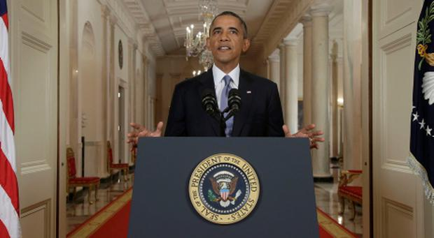US President Barack Obama addresses the nation about the situation in Syria