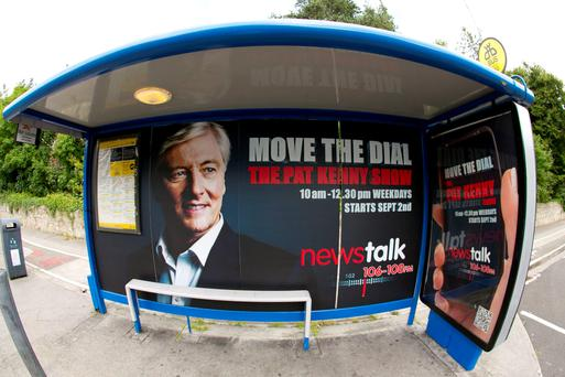 Poster of Pat Kenny on Bus Stop Outside RTE on the Rock Road