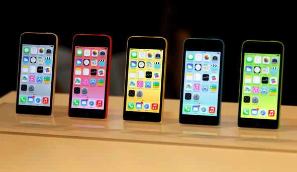 The five colors of the new iPhone 5C