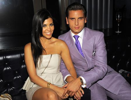 TV personalities Kourtney Kardashian and Scott Disick