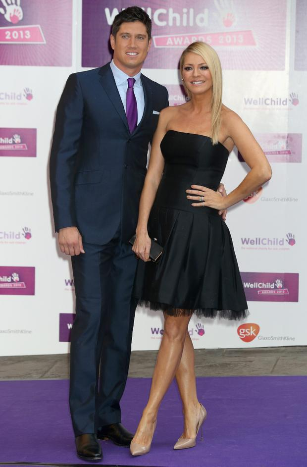 Tess Daly and Vernon Kay arrive at the WellChild Awards at The Dorchester in London, England. Photo:Chris Jackson/Getty Images