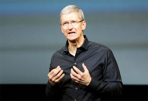 Apple CEO Tim Cook. Apple employs some 4,500 people in Ireland