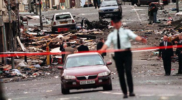 The scene of the 1998 Omagh bomb