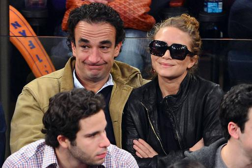 Olivier Sarkozy and Mary-Kate Olsen attend New York Knicks game