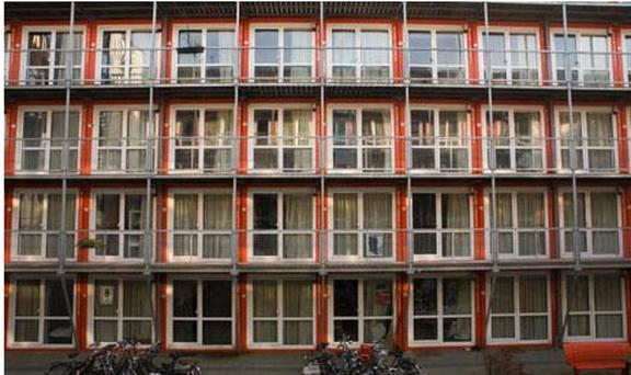 Antisocial tenants in Amsterdam, Netherlands, will be housed in converted shipping containers