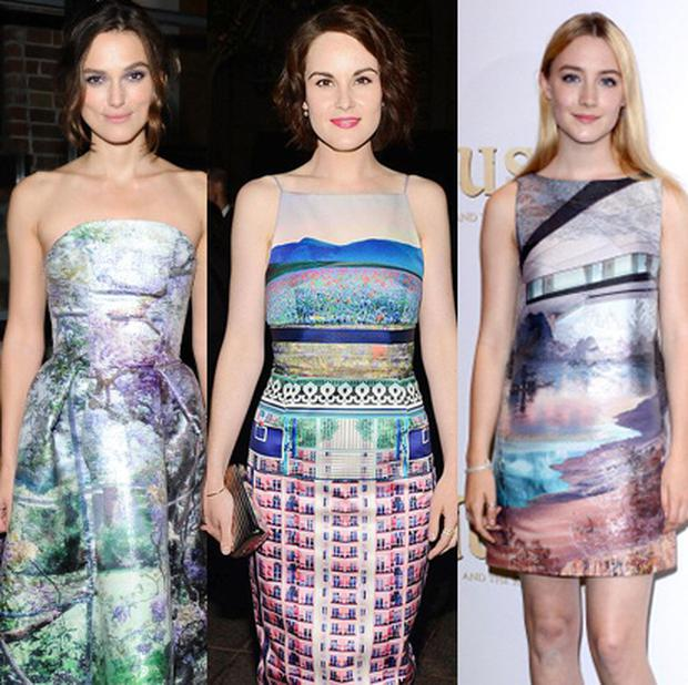 (L to R) Keira Knightley, Michelle Dockery and Saoirse Ronan
