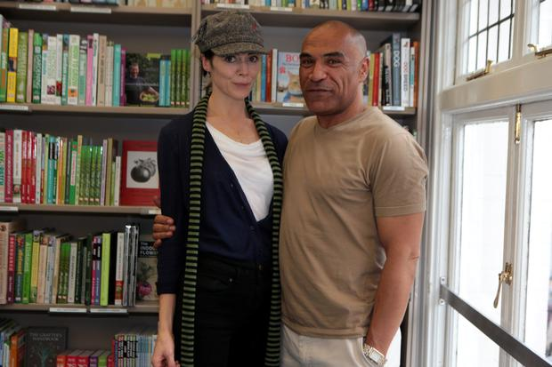 Fiona O'Shaughnessy and Kevin Sharkey at the launch of Virginia Gilbert's book Traveling Companion, at Dubray books on Grafton Street, Dublin. Picture:Arthur Carron/Collins