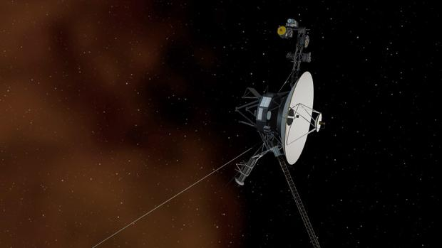 This undated artist's concept depicts NASA's Voyager 1 spacecraft entering interstellar space, or the space between stars.
