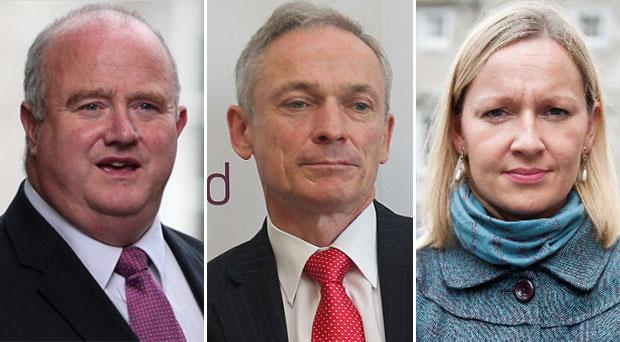 From left; Billy Timmins, Richard Bruton and Lucinda Creighton