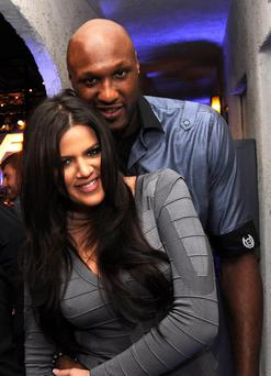 Lamar Odom and Khloe Kardashian in September 2012
