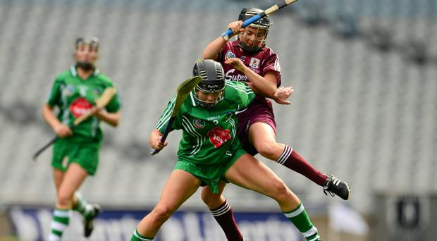 Fiona Hickey, Limerick, in action against Aoife Donoghue