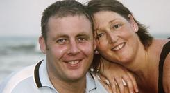 Caroline Donohoe and Adrian Donohoe pictured together before his death