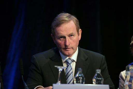 15/9/13 Taoiseach Enda Kenny at the International Society for the Prevention of Child Abuse and Neglect conference, at the Burlington Hotel, Dublin. Picture:Arthur Carron/Collins