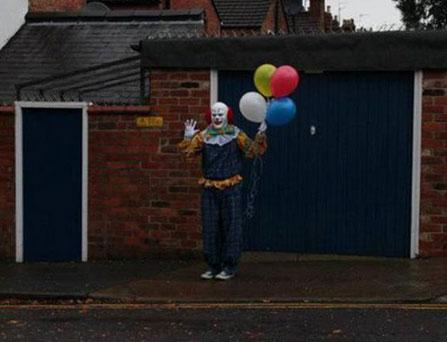 The clown has been spotted out and about in Northampton