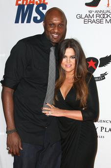 CENTURY CITY, CA - MAY 18: Lamar Odom (L) and actress Khole Kardashian attend the 19th Annual Race To Erase MS -