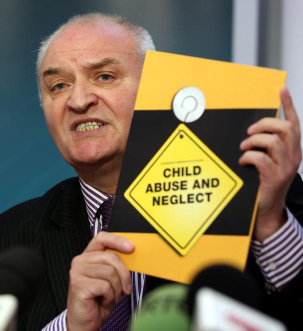 Hugh Connor, Safeguarding Board for Northern Ireland, speaking at a press briefing on child sex abuse in Belfast, as police are working to establish if 22 suspected child sexual exploitation cases in Northern Ireland are linked to potential organised abuse activities