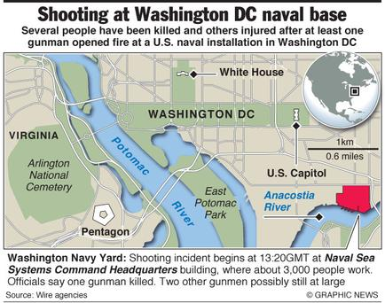 Several people have been killed and others injured after at least one gunman opened fire at a naval installation in Washington DC.