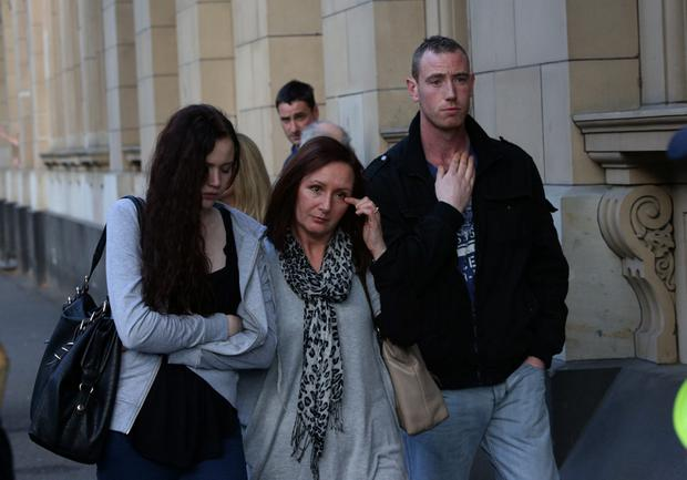 Aunt of David Byas leaves the Court with backpacker mate of David, Neil Clark