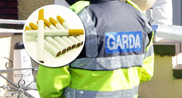 Gardai seize nine million cigarettes near Castlebellingham, Co Louth, this morning