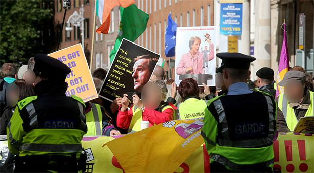 Dail's 'ring of steel' amid fears of republican protests