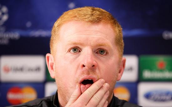 Celtic's coach Neil Lennon