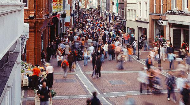 Shoppers on Dublin's Grafton Street