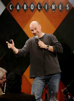 Vince A. Sicari, a South Hackensack, N.J., Municipal Judge, performs at Carolines on Broadway comedy club in New York