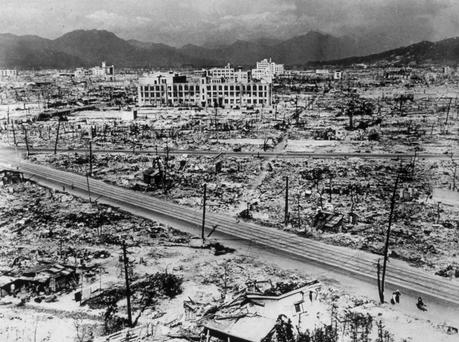 Atomic bomb damage in Hiroshima. (Photo by Hulton Archive/Getty Images)