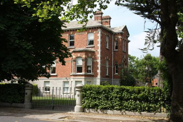 The mansion on Ailesbury Road, once owned by McFeely