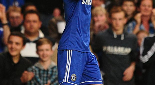 Chelsea's Emboaba Oscar celebrates scoring his side's first goal of the game