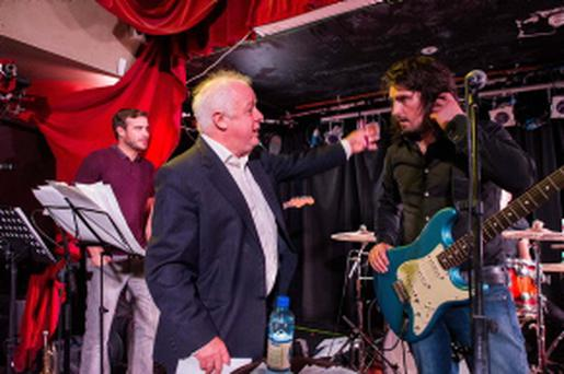 Jim Sheridan talks to Mal Tuohy lead singer with the band The Riptide Movement in Whelans.