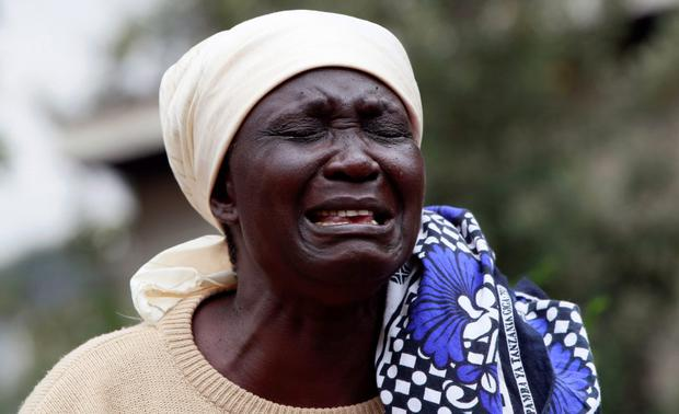 Mary Italo mourns the death of her son Thomas Italo who was killed during the attack at the Westgate Shopping Centre in the capital Nairobi