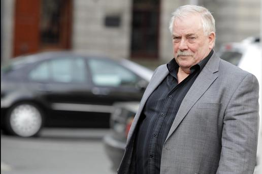 Tom McFeely, leaving court on a previous occasion. Pic: Collins Courts