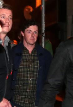 Golfer Rory McIlroy going to The Script at Whelans, part of the Arthur's Day celebrations in Dublin.