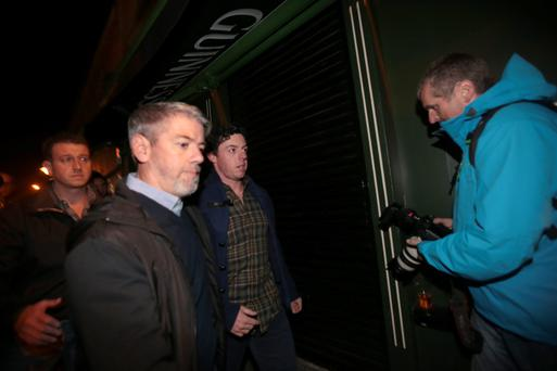 26/9/13 Rory McIlroy going to the Script at Whelans, part of the Arthur's Day celebrations in Dublin. Picture:Arthur Carron/Collins