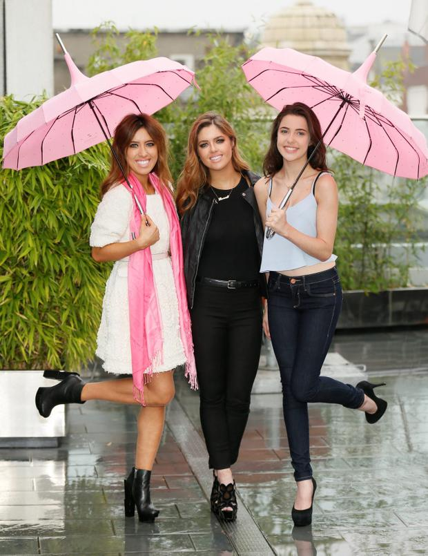 Lottie, Bonnie and Babs Ryan at the Marks & Spencer launch of the Marie Keating Foundation's Breast Cancer Awareness Month-photo Kieran Harnett
