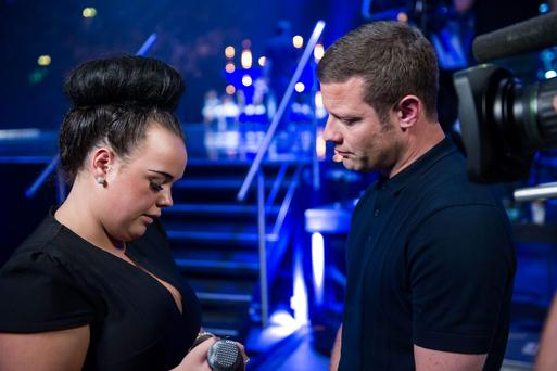 Amy Mottram (left) and Dermot O'Leary during the Boot Camp stage of the ITV1 talent show, The X Factor.