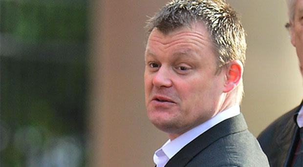 Hypnotist Timothy Porter arrives at Teeside Crown Court where he was jailed for 18 months after he put a woman under his trance, telling her he was her master and she was his sex slave
