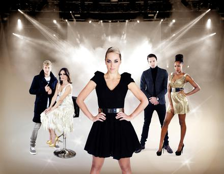 (L to R) Kian Egan, Sharon Corr, Kathryn Thomas, Bressie and Jamelia