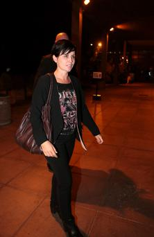 The Cranberrie's Dolores O'Riordan, new coach on The Voice, at the Late Late show at RTE in Dublin. Picture:Arthur Carron/Collins