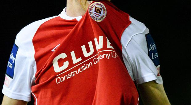 Anto Flood, St. Patricks Athletic, celebrates after scoring his side's second goal tonight