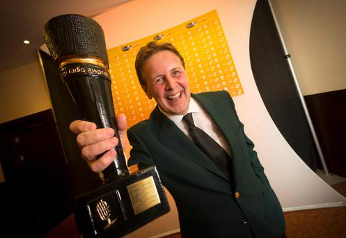 Ian Dempsey pictured after winning a Lifetime Achievement Award pictured at the PPI Radio Awards 2013 in the Lyrath Estate Hotel in Kilkenny. Picture Dylan Vaughan.