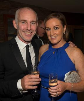 Ray D'Arcy and Jenny Kelly pictured at the PPI Radio Awards 2013 in the Lyrath Estate Hotel in Kilkenny last night. Picture Dylan Vaughan.