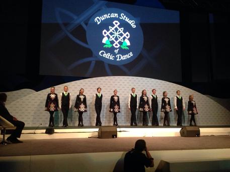 A troupe of Irish dancers, from South Africa, performed at the event.