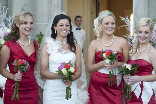 LOVE HATE - Mary (Ruth Bradley) and Trish (Aoibhinn McGinnity)