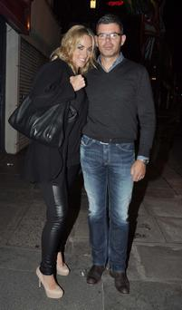 Kathryn Thomas and new boyfriend Padraig McLoughlin Photo: John Dardis