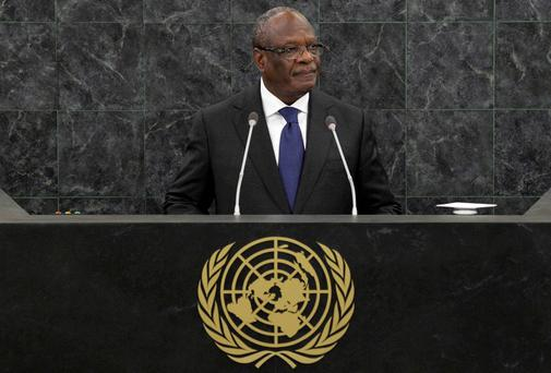 Ibrahim Boubacar Keita, President of Mali, addresses the 68th United Nations General Assembly at U.N. headquarters in New York