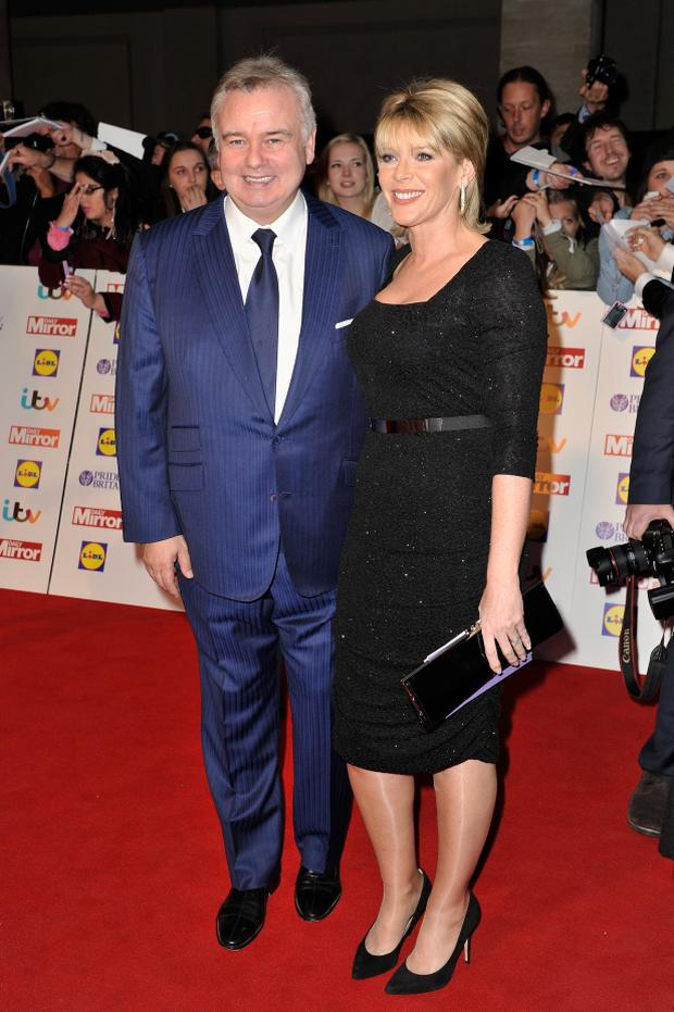 TV presenters Eamonn Holmes and Ruth Langsford attend the Pride of Britain awards at Grosvenor House on October 7, 2013 in London, England. (Photo by Gareth Cattermole/Getty Images)