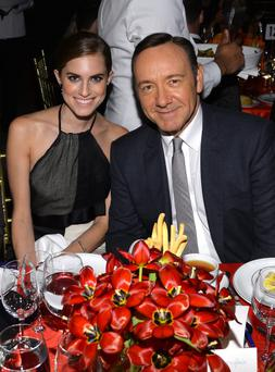 Allison Williams (left) and Kevin Spacey pictured in New York City