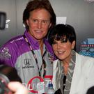 INDIANAPOLIS - MAY 30: Bruce Jenner (L) and his wife Kris Jenner pose for photos in the green room before the start of the 94th running of the Indianapolis 500 at the Indianapolis Motor Speedway on May 30, 2010 in Indianapolis, Indiana. (Photo by Joey Foley/Getty Images)